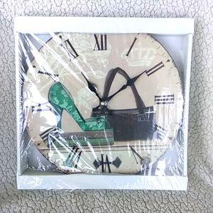 "Fashion Wall Clock 11"" London Heel"